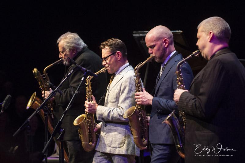 Ronnie Cuber, Benjamin Herman, Maarten Hogenhuis en Marco Kegel
