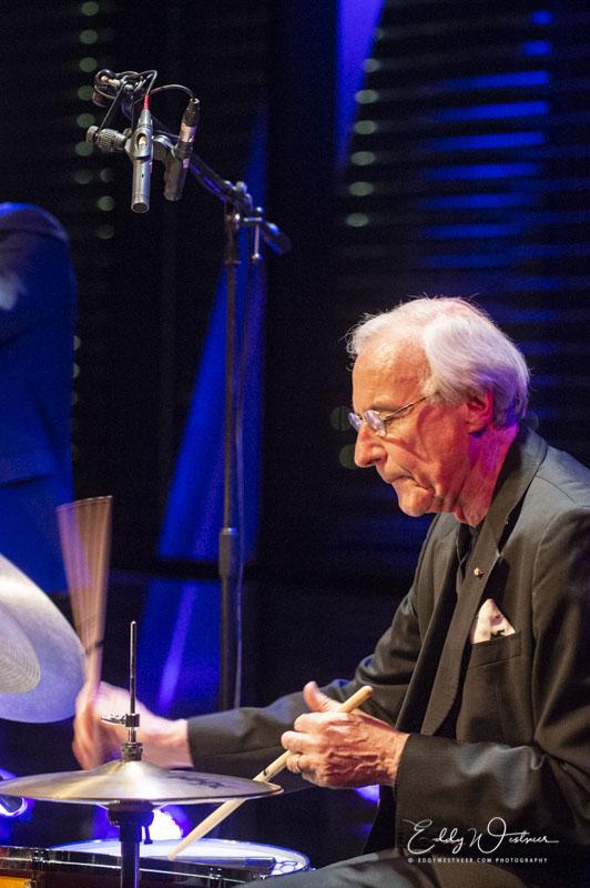 Eric Ineke sinds 1970 drummer bij Rein de Graaff